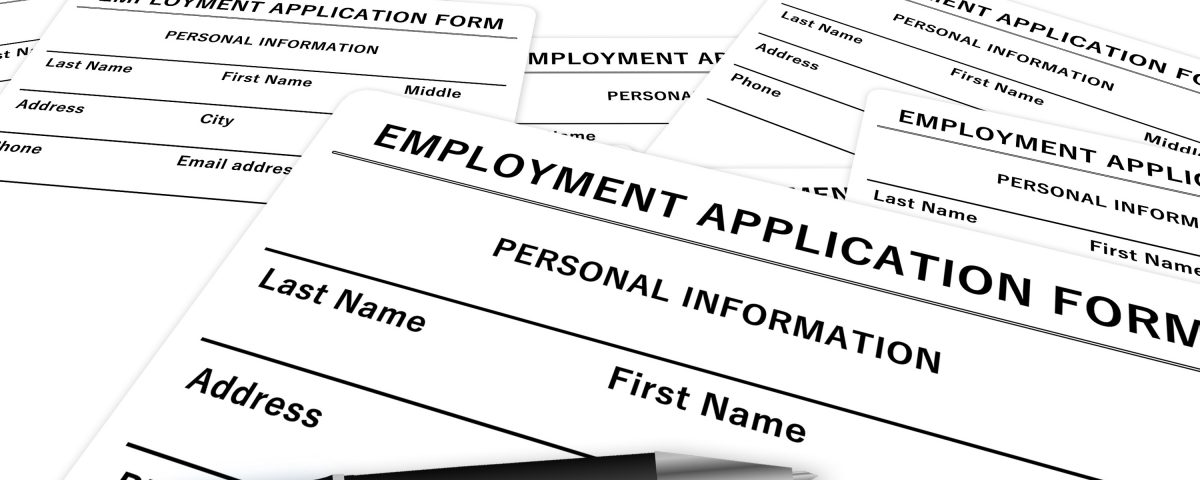 Employment application representing temp services